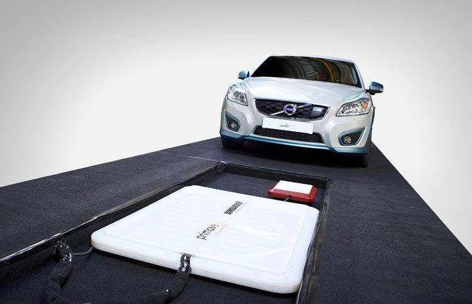 Volvo C30 electric - recharge par induction